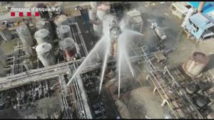 Extinció de l'incendi a Iqoxe