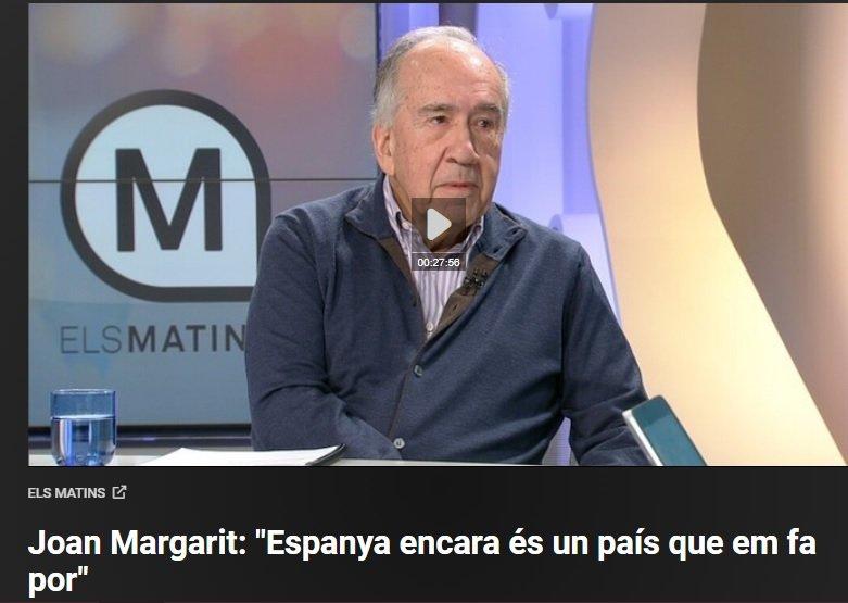 "Joan Margarit: ""España me da miedo"""