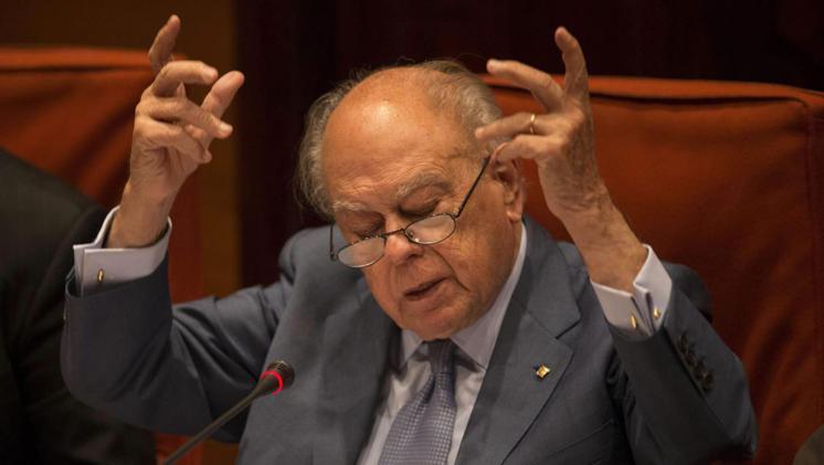 Jordi Pujol en la comisión parlamentaria de investigación de la corrup