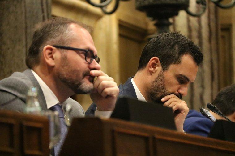 Josep Costa con el presidente Roger Torrent