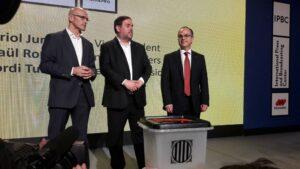Raül Romeva, Oriol Junqueras y Jordi Turull