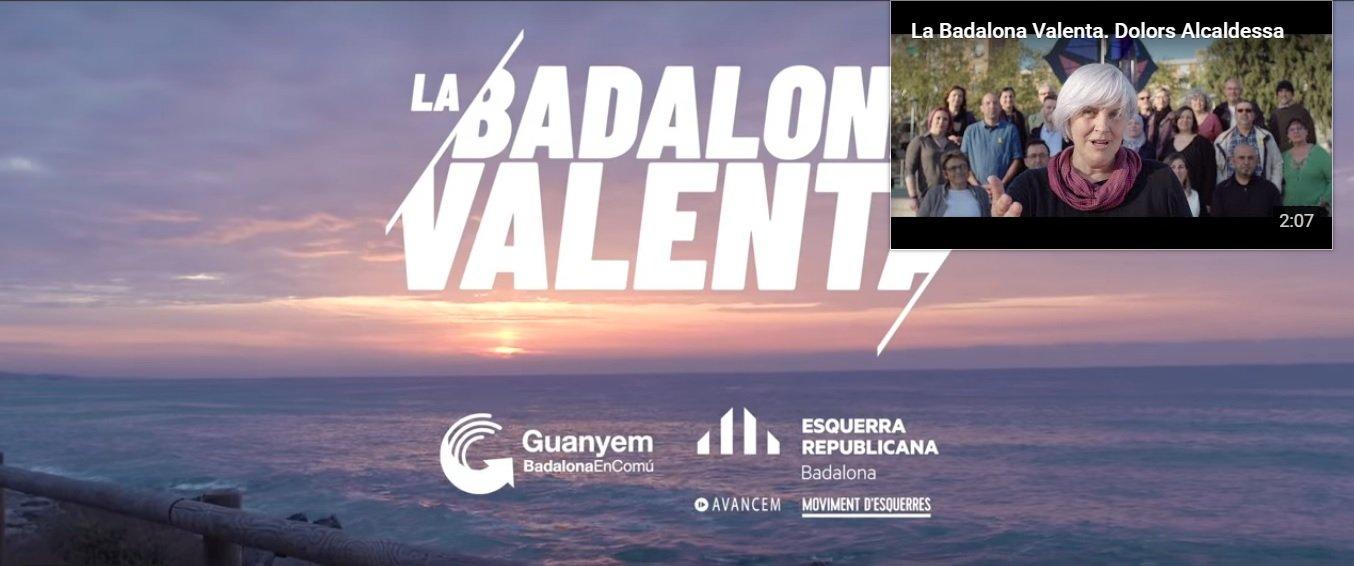 Fotograma del vídeo de campaña de ERC en Badalona