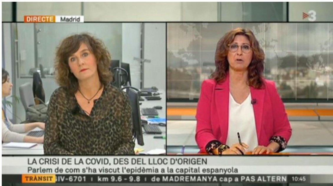 Madrid, lloc d'origen de la pandèmia, segons TV3