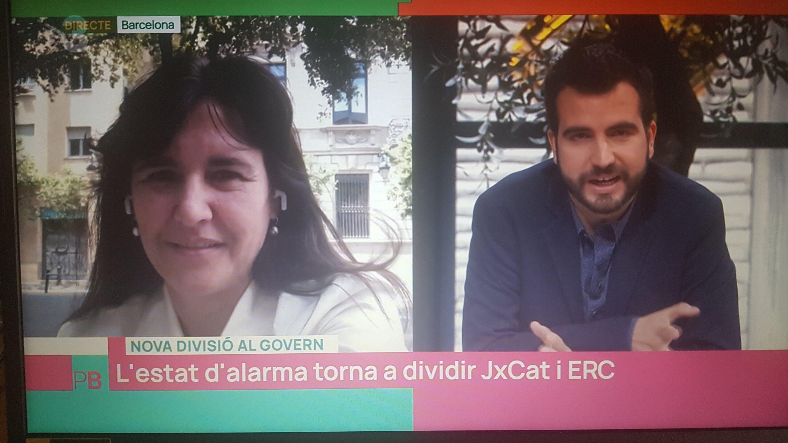 Ricard Ustrell entrevista a la diputada de JxCat Laura Borràs al progr