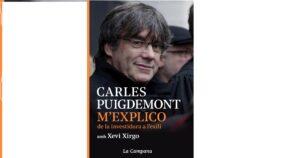 Portada del nuevo libro de Carles Puigdemont