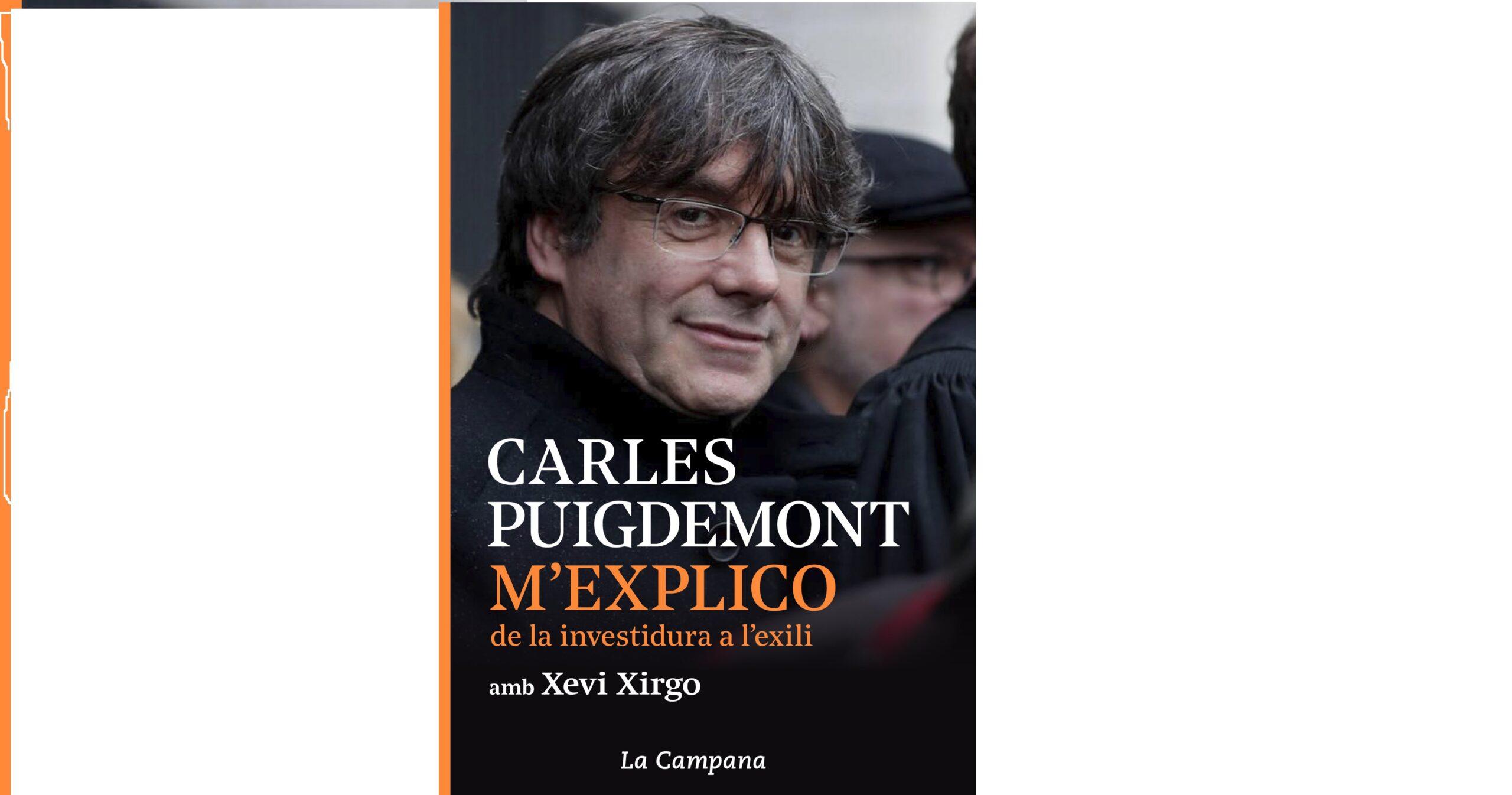 Portada del nou llibre de Carles Puigdemont