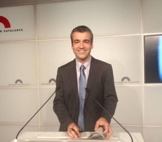 El portaveu socialista, Maurici Lucena, aquest dimarts al Parlament