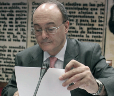 Luis María Linde, governador del Banc d'Espanya