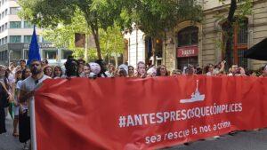 Manifestación contra la política migratoria europea