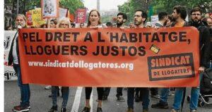 Manifestación del Sindicat de Llogateres i Llogaters