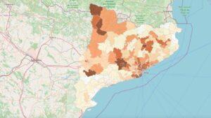 Mapa de la incidencia de la Covid-19 en Catalunya