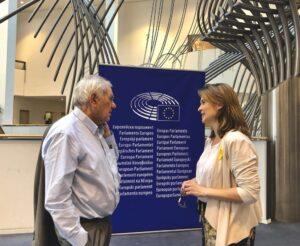 Ernest Maragall y la delegada ante la UE, Meritxell Serret