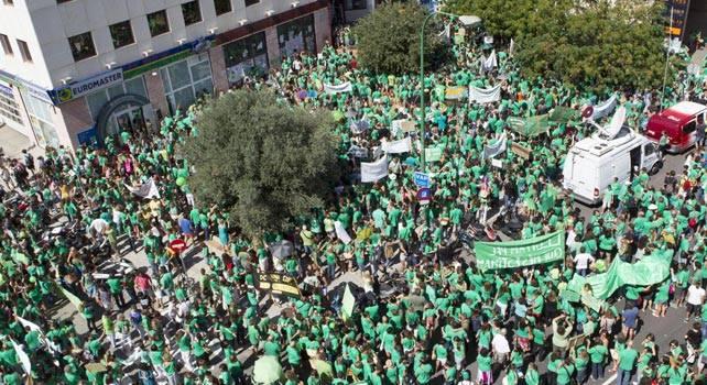 La marea verda de Palma de Mallorca