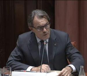 El president Mas, aquest dimecres al Parlament