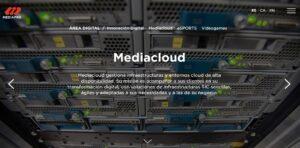Imatge de la web de Mediacloud, empresa del grup Mediapro