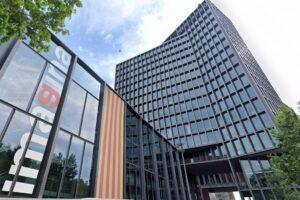 Edifici de Mediapro a l'avinguda Diagonal de Barcelona