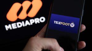 Promoció del canal de TV Téléfoot creat per Mediapro per emetre par