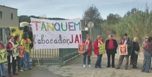 Protesta contra el vertedero de Vacamorta
