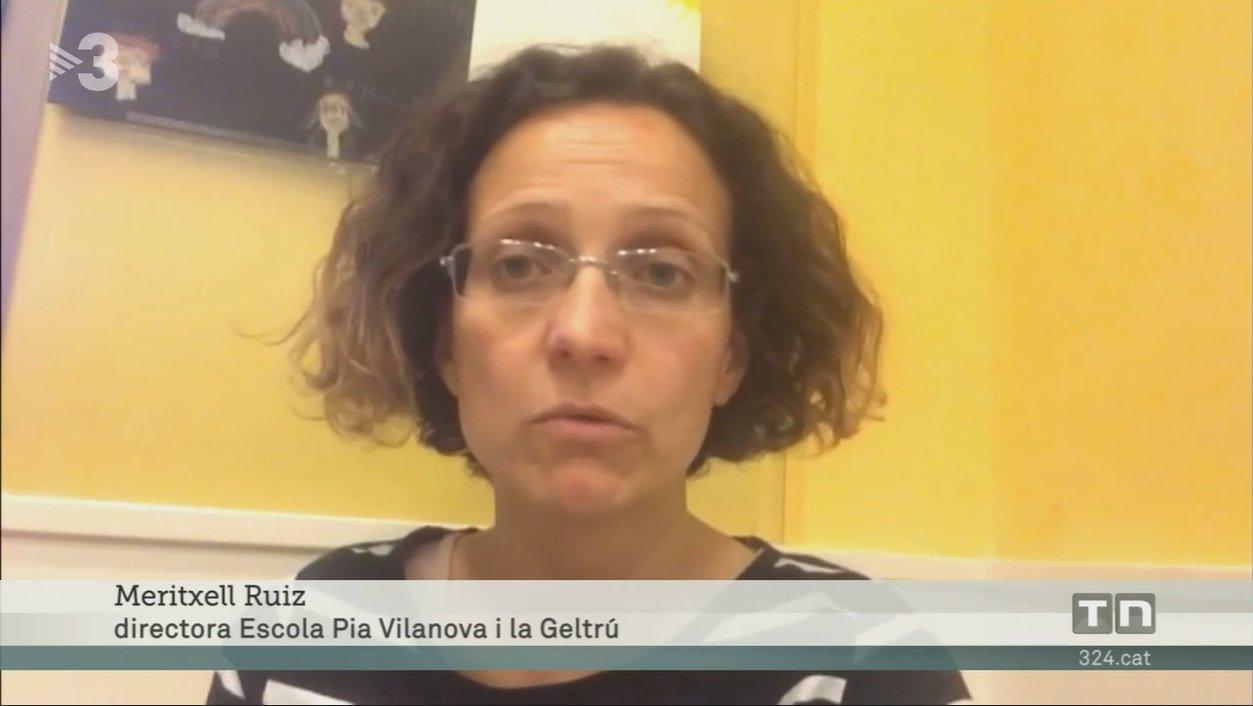 Meritxell Ruiz, exconsellera d'Ensenyament, fent declaracions a TV3