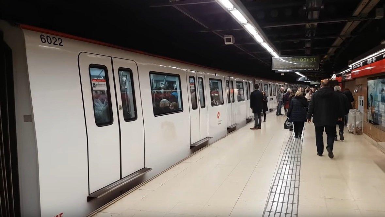 Estacio de Cataluña del metro de Barcelona