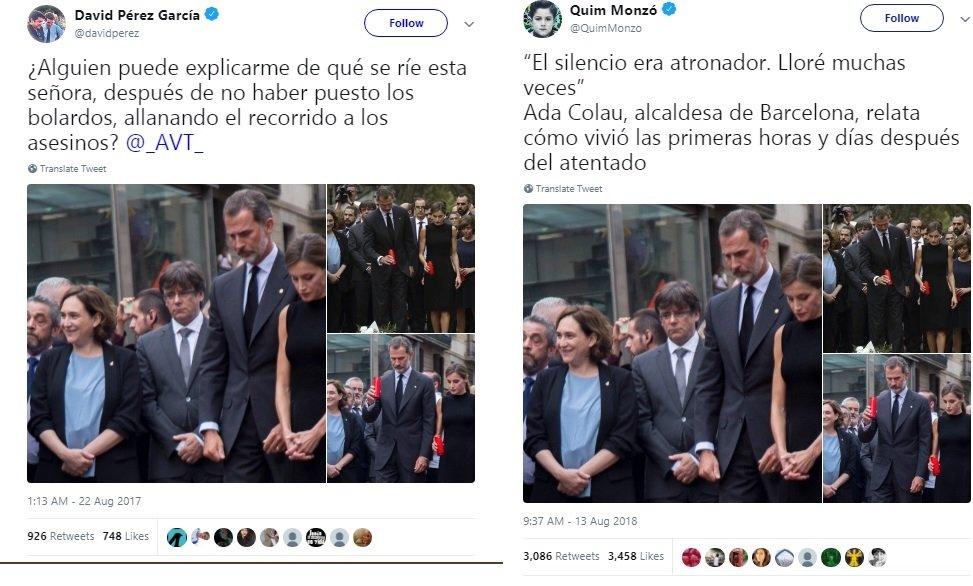 Tweets del alcalde de Alcorcón y de Quim Monzó