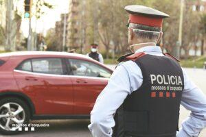 Mossos d'Esquadra, de servei al carrer, durant la pandèmia
