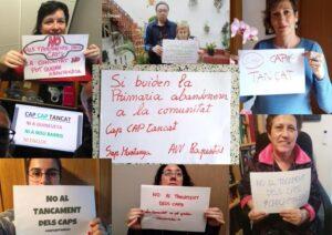 Campaña de Marea Blanca de Catalunya contra el cierre de los CAPs