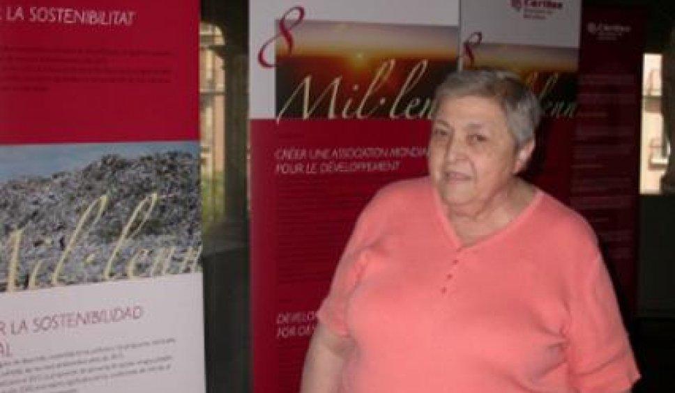 Núria Gispert, quan va rebre la Medalla d'Honor del Parlament
