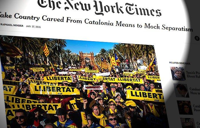 Artículo de The New York Times hablando de la situación catalana