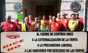 Membres de la ONCE es manifesten a Tarragona