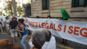 Manifestación en Barcelona pidiendo que abran los puertos mediterráneos