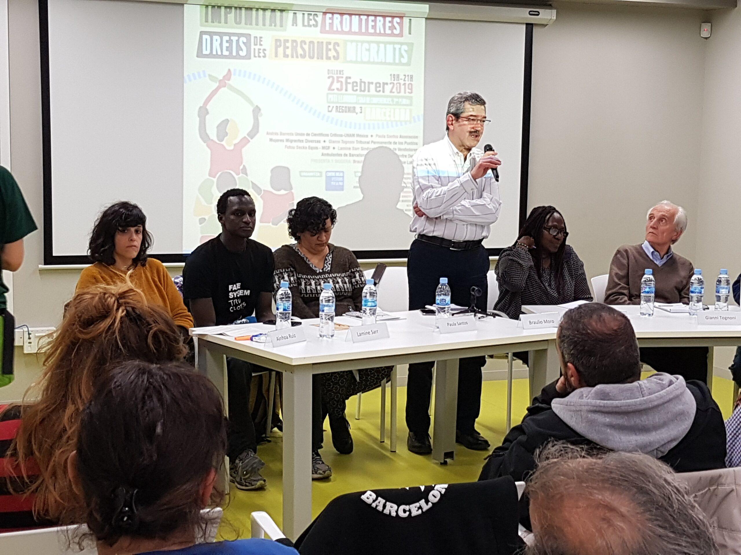 L'economista mexicà Braulio Moro, a la jornada del TPP sobre migrac