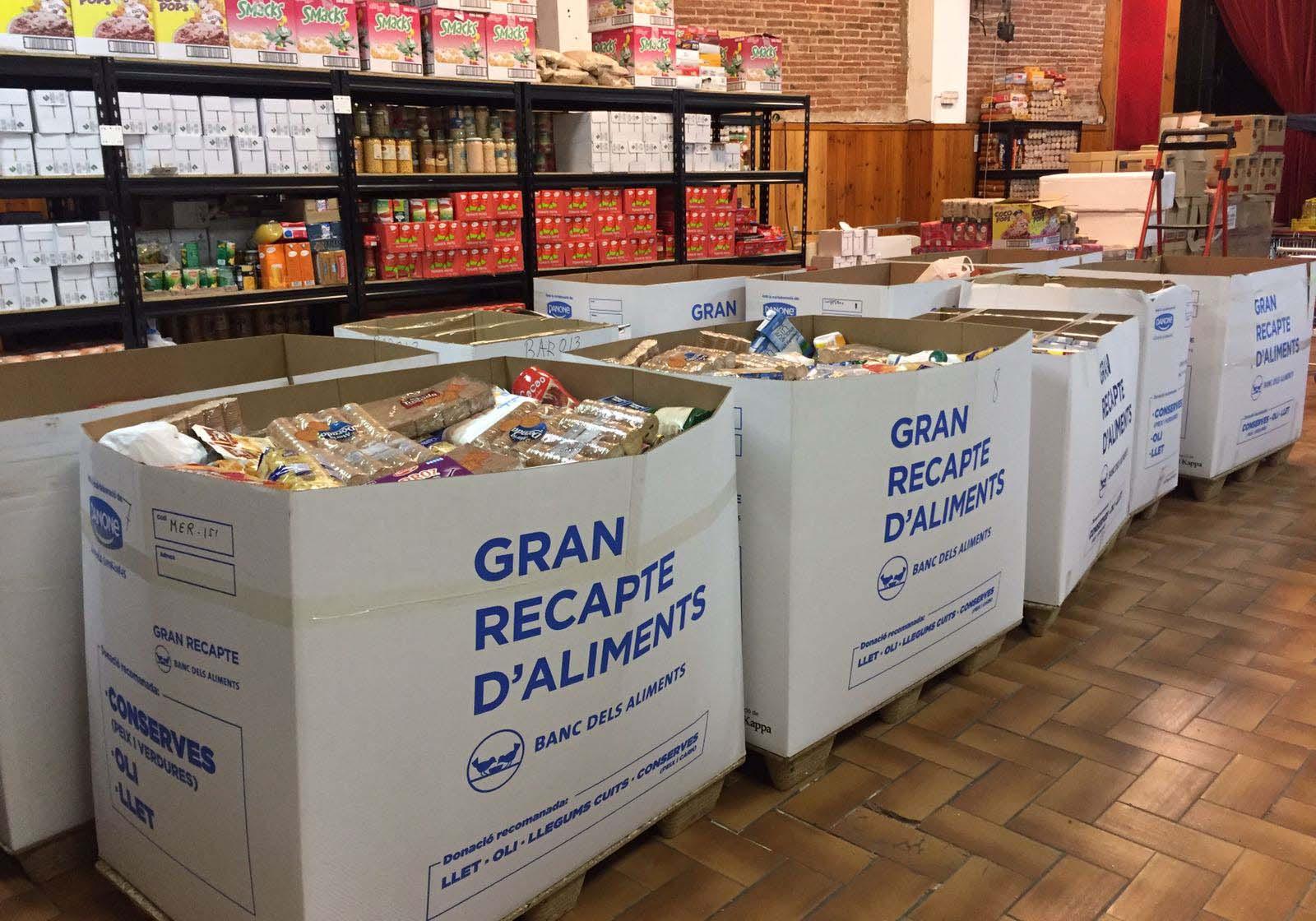 Recollida d'aliments per part de l'Ajuntament de Montmeló durant
