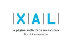 Pàgina inactiva del web de la XAL