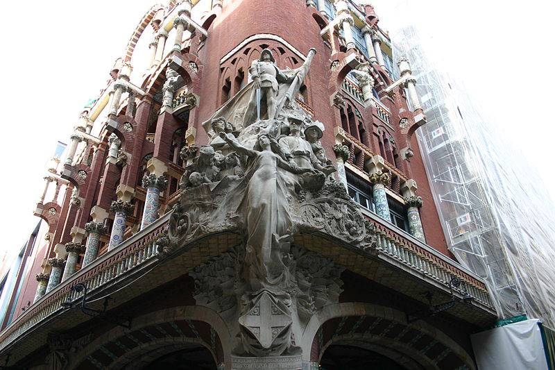 palau musica escultura cantonada