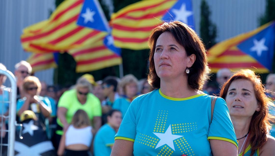 La presidenta de la Asamblea Nacional Catalana, Elisenda Paluzie, en