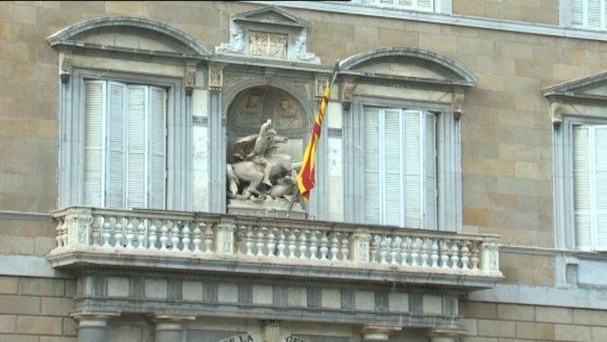 El balcó, sense la pancarta