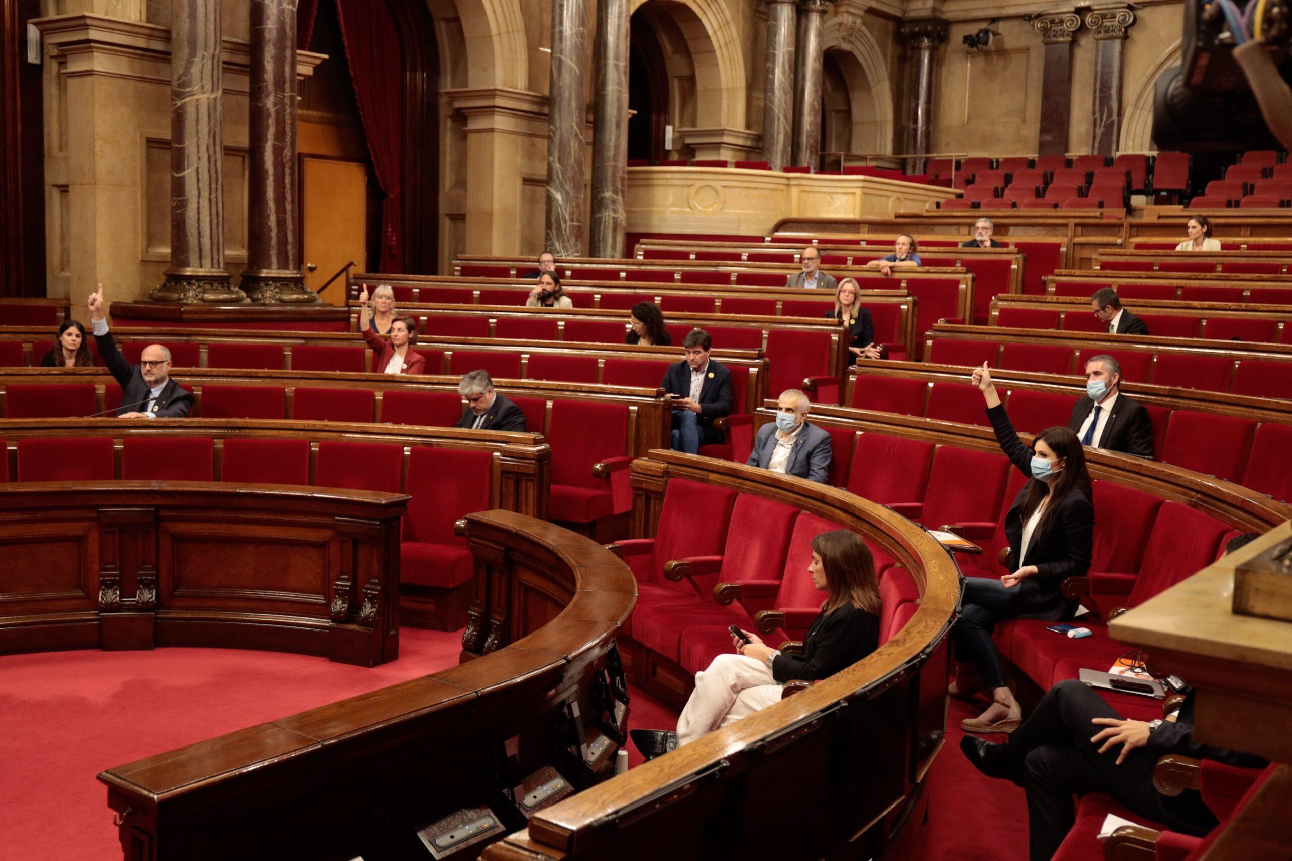 Sesión del Pleno del Parlamento de Catalunya