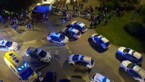 Dispositivo policial a raiz de la acción de una patrulla vecinal a Premió