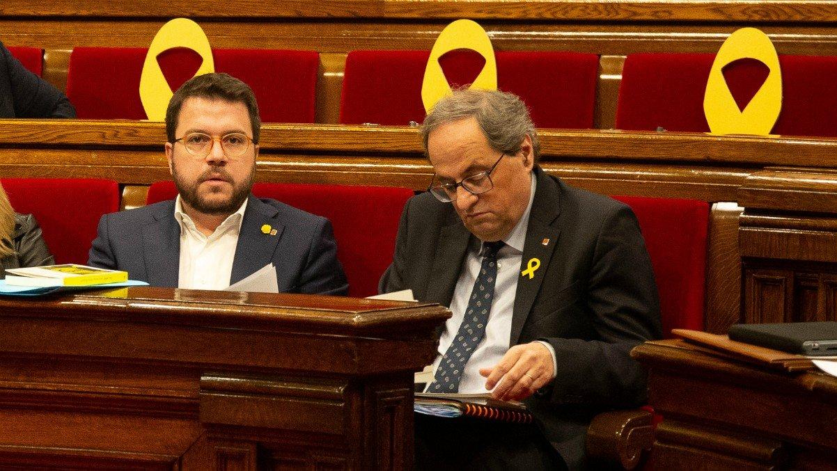 El vicepresident del govern, Pere Aragonès, i el president de la Gene