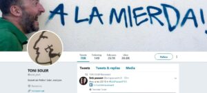 Perfil de Toni Soler a Twitter
