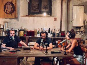 Peyu, Jair Domínguez y Neussi, en el programa 'El bunker', de Catalunya Ràdio