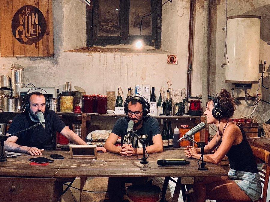 Peyu, Jair Domínguez i Neussi, al programa 'El búnquer', de Catalunya Ràdio