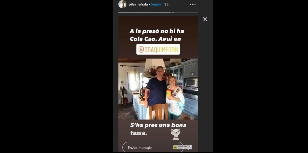 Pilar Rahola y Joaquim Forn, en la casa de la periodista, en Cadaqués