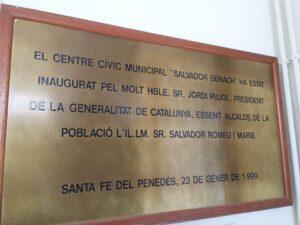 placa pujol Santa Fe del Penedès