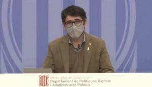 Jordi Puigneró, presentando la estrategia New Space y anunciando la cre