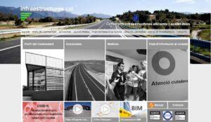 Portal d'Internet de l'empresa pública de la Generalitat Infraestruct