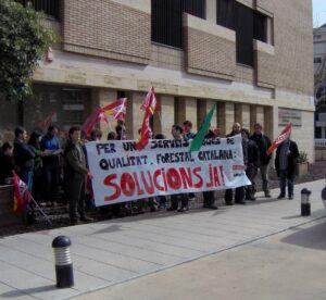 Protesta forestal catalana