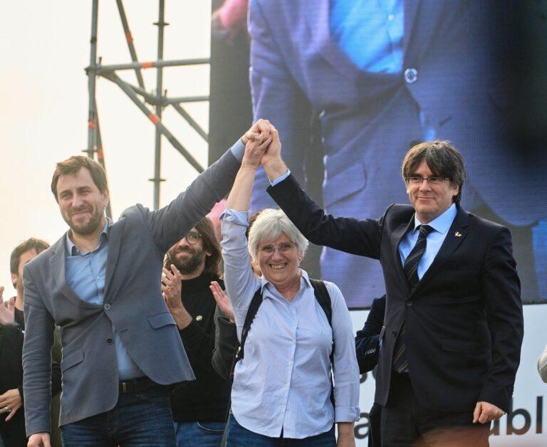 Toni Comín, Clara Ponsatí i Carles Puigdemont