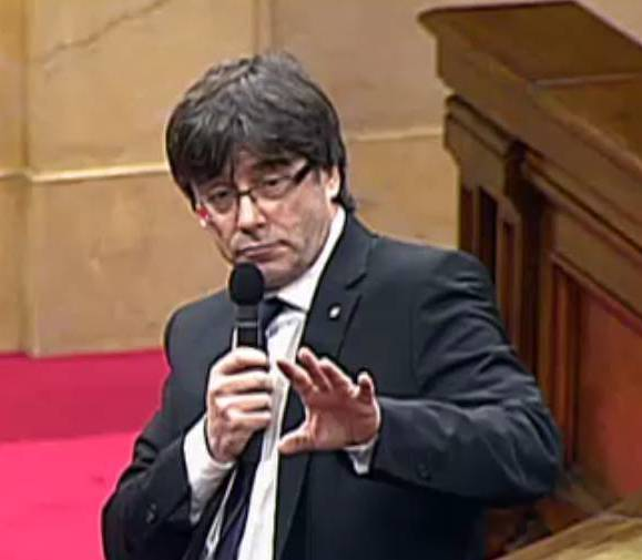Carles Puigdemont al Parlament.